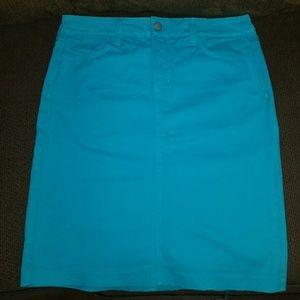 Not your daughters jeans aqua denim skirt